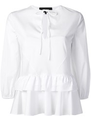 Rochas Tiered Peplum Shirt White