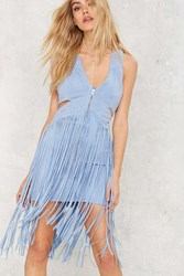 Nasty Gal Ramble Tamble Fringe Suede Dress