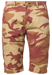 Alpha Industries Ground Crew Shorts Sand Red Camo Beige
