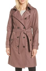London Fog Knee Length Trench Coat Adobe