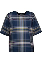 Rosetta Getty Plaid Cotton Blend T Shirt Multi