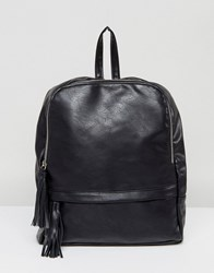 Liquorish Zip Around Backpack Black