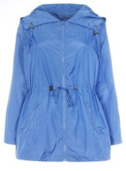 Evans Plus Size Plain Blue Rain Mac