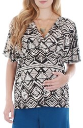 Everly Grey Women's 'Ophelia' Print Maternity Nursing Top