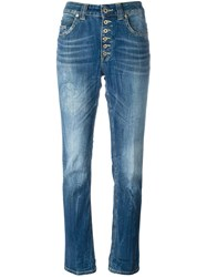 Dondup Buttoned Straight Jeans Blue