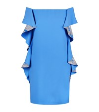 Pinko Off The Shoulder Dress Female Blue