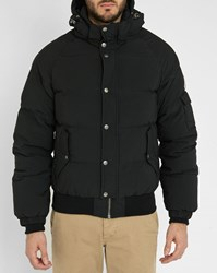 Pyrenex Black Aviator Pr Ripstop Waterproof Removable Hood Down Jacket