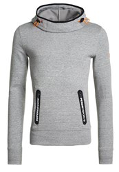 Superdry Gym Tech Funnel Pocket Hoodie Grey Grit Mottled Grey