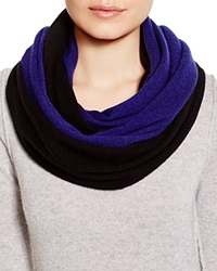 C By Bloomingdale's Angelina Cashmere Solid Loop Scarf Black Midnight