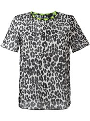 Marc Jacobs Leopard Print T Shirt Black