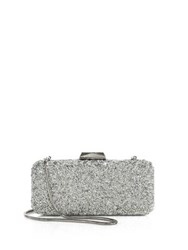 Saks Fifth Avenue Long Rectangular Crystal Clutch