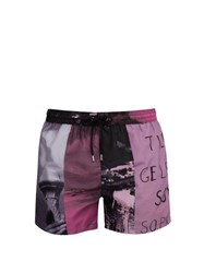 Paul Smith Beach Scene Print Swim Shorts Pink