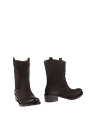 Liu Jo Shoes Ankle Boots Dark Brown