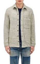 Simon Miller Boucle Shirt Jacket Grey