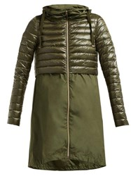 Herno Padded Nylon Coat Khaki