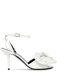 Balenciaga 80Mm Knife Leather Sandals W Bow White