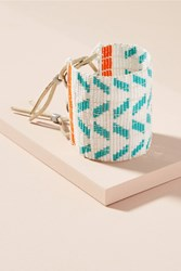 Anthropologie Wide Chevron Bead Cuff Bracelet Turquoise