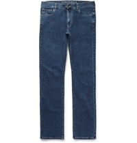 Canali Straight Leg Stretch Denim Jeans Blue