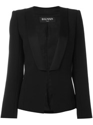 Balmain Angular Lapel Blazer Black
