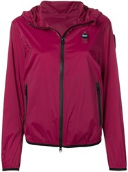 Blauer Zip Hooded Jacket Red