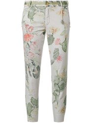 Mason Cactus Printed Cropped Trousers Grey