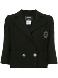 Chanel Vintage Double Breasted Jacket Black