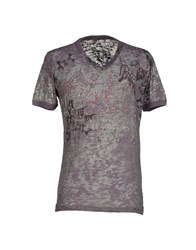 We Are Replay Topwear T Shirts Men Purple