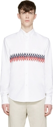 Band Of Outsiders White Zig Zag Shirt