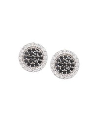 Jamie Wolf Scallop Pave Black And White Diamond Earrings White Gold