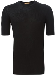 Nuur Short Sleeved Sweater Black
