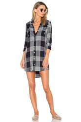 Obey Chelsea Shirtdress Blue