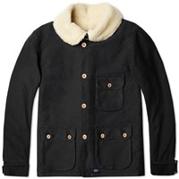 Bleu De Paname Double Counter Jacket Black And Grey