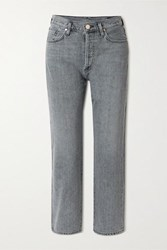 Gold Sign Goldsign Net Sustain The Relaxed Straight Mid Rise Straight Leg Jeans Gray
