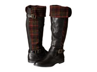 Bella Vita Romy Ii Black Burgundy Plaid Flannel Women's Zip Boots
