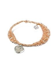 Orlando Orlandini Galaxy Diamond Charm 18K Rose Gold Bracelet