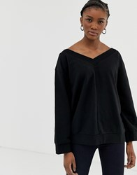 Cheap Monday Well V Neck Sweatshirt Black