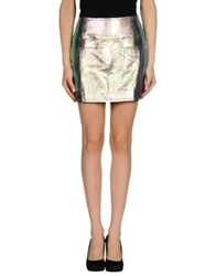 Marc By Marc Jacobs Mini Skirts Turquoise