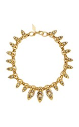 Nicole Romano 18K Gold Plated Crystal Embellished Marquis Necklace