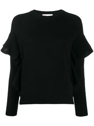 Red Valentino Knitted Ruffle Trimmed Jumper 60