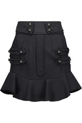 Isabel Marant Lena Stretch Wool And Cotton Blend Mini Skirt Midnight Blue