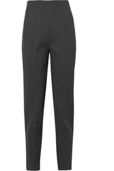 The Row Cat Stretch Wool Twill Tapered Pants Gray