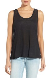 Bobeau Women's Racerback Keyhole Burnout Knit Tank Black