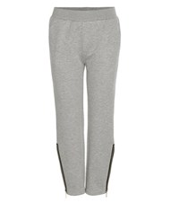 Stella Mccartney Cotton Blend Track Pants Grey