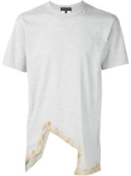 Comme Des Gara Ons Homme Plus Asymmetric Cut Out T Shirt Grey