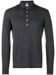 Massimo Alba Longsleeved Polo Shirt Black