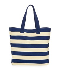 San Diego Hat Company Wide Striped Tote Bag Blue