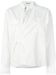 Tomas Maier Crossed Front Shirt White