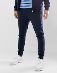 Bellfield Joggers With Side Stripe Towelling In Navy