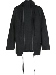 Barbara I Gongini Double Zip Jacket Black