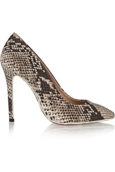 Msgm Snake Print Canvas Pumps